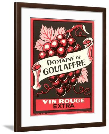 Vin Rouge Label--Framed Art Print