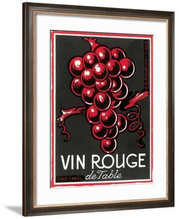Vin Rouge Label--Framed Art Print