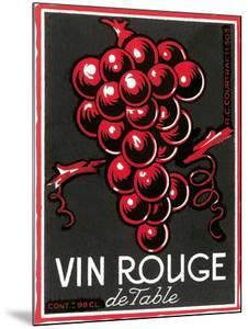 Vin Rouge Label
