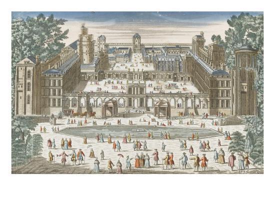 Vincennes ch teau fort le grand bassin du jardin des tuileries paris giclee print by - Grand bassin de jardin ...