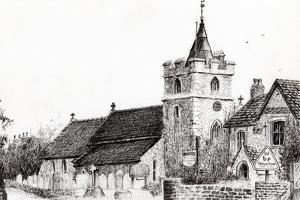 Brighstone Church I.O.W., 2008 by Vincent Alexander Booth
