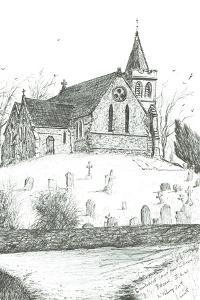 Church of St Mary the Virgin,Brook,I.O.W., 2009 by Vincent Alexander Booth