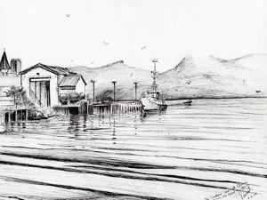 Customs Boat at Oban, 2007 by Vincent Alexander Booth