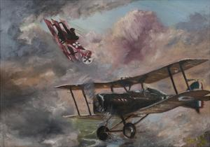 Dogfight 1917 by Vincent Alexander Booth