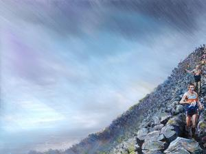 Fell Race- Toms off !, 2018 by Vincent Alexander Booth
