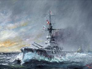 HMS Iron Duke, 'Equal Speed Charlie London' Jutland 1916, 2015 by Vincent Alexander Booth