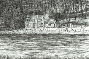 house across the river Spey, 2006 by Vincent Alexander Booth