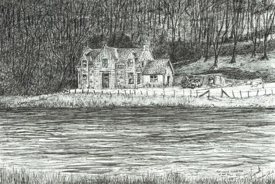 house across the river Spey, 2006