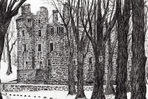 Huntly, Castle ,Scotland, 2007 by Vincent Alexander Booth
