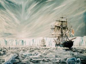 James Clark Ross discovers Antarctic Ice Shelf by Vincent Alexander Booth