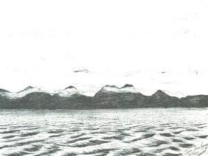 Jura scene from Ferry,2005, by Vincent Alexander Booth