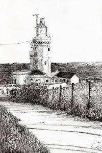 Lighthouse, Isle of Wight, 2010 by Vincent Alexander Booth