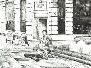 Musician St. Ann's Square, 2016 by Vincent Alexander Booth