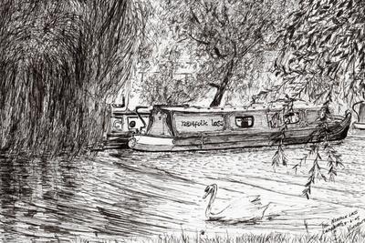 Narrow boats Cambridge, 2005,