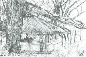 Outdoor bar, lake Naivasha, 2006 by Vincent Alexander Booth
