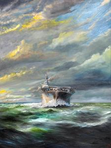 USS Enterprise returns to Pearl, 2019 by Vincent Alexander Booth