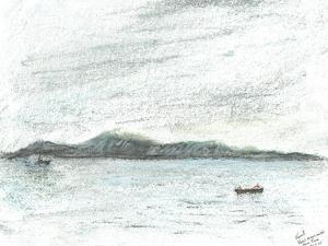 view across water from Jura, 2005 by Vincent Alexander Booth
