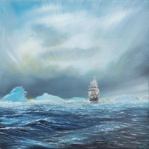 Ice Dominion, Terra Nova Passes Ice Burgs by Vincent Booth