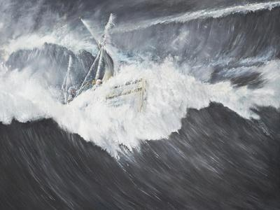 The Gigantic Wave (2) Ernest Shackleton and Five Crew Aboard the James Caird, Midnight