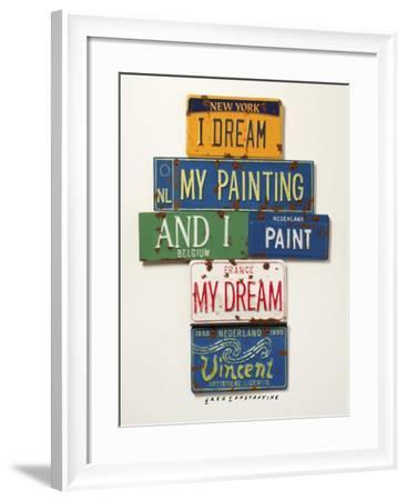 Vincent Dream My Painting-Gregory Constantine-Framed Giclee Print