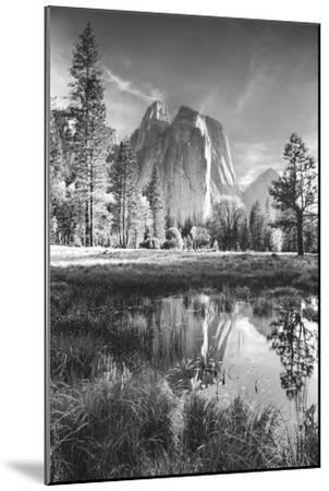 Afternoon at Cathedral Rocks, Reflections Yosemite Valley Black and White by Vincent James