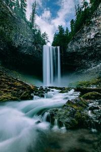 Amazing Mount Hood Waterfall, Tamanawas Falls, National Forest Oregon by Vincent James