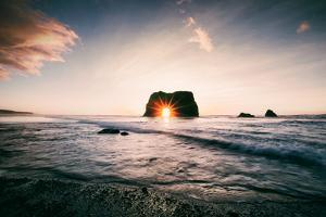 Arch Star at Blues Beach, Elephant Rock, Fort Bragg, Mendocino Coast by Vincent James