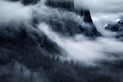 At The Base Mighty El Capitan Yosemite Fog Winter Mood California by Vincent James