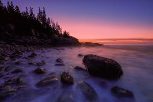 Atlantic Coast Sunrise, Maine, Acadia National Park by Vincent James