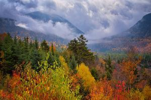 Autumn Cloudscape Kancamagus Highway, New England by Vincent James