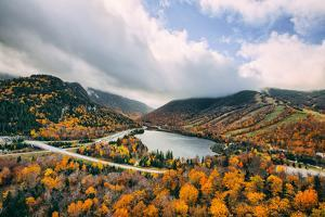 Autumn Lake Scene, White Mountains, New Hampshire by Vincent James