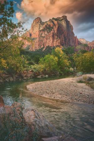 Autumn Riverside, Zion Canyon, Utah by Vincent James