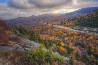 Autumn Road Through the White Mountains, New Hampshire by Vincent James