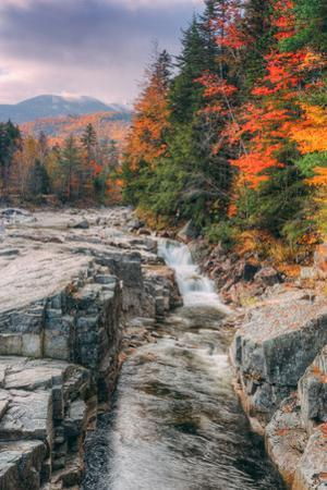 Autumn Scene at Rocky Gorge, White Mountains, New Hampshire by Vincent James