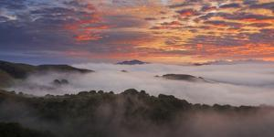 Awesome Fog and Clouds Mount Diablo Bay Area Clouds Sunrise Fire by Vincent James