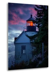 Bass Harbor Lighthouse Detail at Sunset, Maine by Vincent James