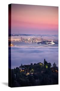 Bay Area Living Sunset Fog Enraptures City Oakland San Francisco Bay Area by Vincent James