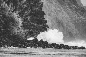 Big Splash at Na Pali Coast, Kauai Hawaii by Vincent James