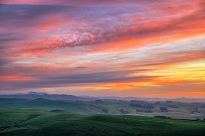 Big Sunrise Sky, Marin Hills and Sky Fire, Dillon Beach, San Francisco by Vincent James