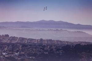 Blue Angels Over Sunset Neighborhood District San Francisco by Vincent James