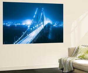 Blue City Bridge, Bay Bridge, San Francisco, California by Vincent James