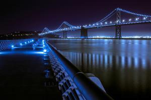 Blue City Bridge by Vincent James