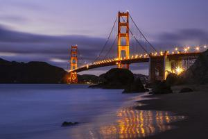 Blue Hour at Golden Gate Bridge, San Francisco California by Vincent James