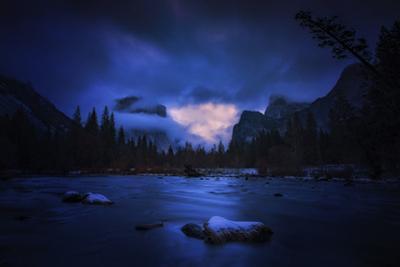 Blue Valley Mood Yosemite National Park Merced River by Vincent James