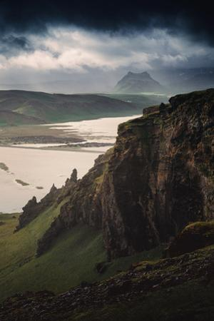 Breathtaking Southern Iceland Views Summer Green Storm Clouds by Vincent James