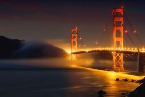 Bridge and Fog, San Francisco by Vincent James