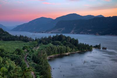 Calm Morning at Columbia River Gorge, Oregon by Vincent James