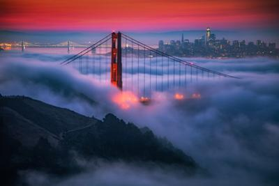 Candy Skies Moody Fog Golden Gate Bridge, San Francisco California Travel by Vincent James