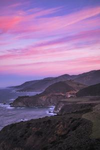 Candy Stream Morning Clouds Big Sur Hills, Central Coast California by Vincent James