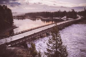 Chilly Morning at Fishing Bridge, Yellowstone Wyoming by Vincent James